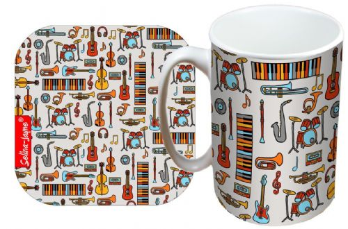 Selina-Jayne Music Limited Edition Designer Mug and Coaster Gift Set